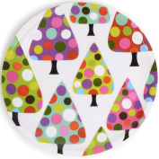 French Bull - Melamine 20cm Holiday Plates - For Appetisers And Desserts - Dot Tree, Set Of 4
