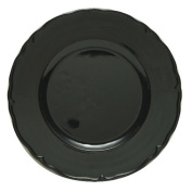 The Jay Companies Regency Charger Plate, Black