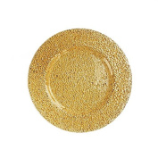 The Jay Companies Glamour Glass Charger Plate, Gold