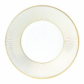 Wedgwood Jasper Conran Gold Accent Plate, 23cm , White