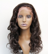 Cupidlovehair Full Lace Wig Hand Made 100% Brazilian Virgin Remy Human Hair Body Wave 36cm Natural Colour Can Be Dyed