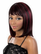 Bob Wig Black Mix Red Ombre Wigs Women Hair Cosplay Hair Synthetic Heat Resistant Hair Wig Short Wig