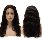 Unprocessed Virgin Human Hair Lace Front Wig Grade 6A 25cm - 60cm Glueless Lace Full Wigs with Baby Hair Body Wave Full Head+Stretchable Elastic Wig Net