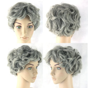 Grey Black Mix White Short Women Hair Cosplay Wigs Synthetic Heat Resistant Hair Wig