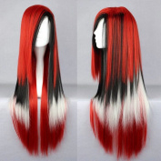 11 Colours 70cm Straight Hair Ombre Wig Cosplay Black White Red Synthetic Hair Wigs Peruca Cosplay