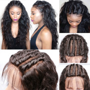 Glueless Full Lace Wigs For Black Women Brazilian Human Hair Full Lace Wig with Baby Hair Natural Colour 60cm 130 Density