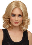 Diy-Wig Short Gold Wave Fashion Retro Style Great Wigs for Elegant Women Over 40