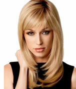 B-G Charming Wigs New Fashion Women Party Big Wavy Sexy Full Hair Wig Human Hair Natural Looking + A Free Wig Cap WIG132