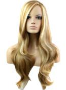 FEOYA Womens Girls Hair Wig 80cm Long Curly Wavy Full Length Blond