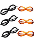 Prettyou Small Size 12cm no slip Effortless Twist hair clips for women, pack of 6
