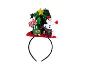 Mini Christmas Tree with Snowman and Presents Headband