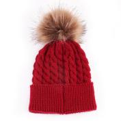 Datework Cute Winter Baby Knitted Wool Hemming Hat