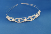 The Good Life Tiara Aliceband With Pearl & Diamonte Crystal Detail Silver