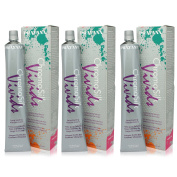 Pravana ChromaSilk Vivids (Red), 90ml-3 Pack