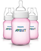 Philips Avent Anti-colic Baby Bottles Pink, 270ml, 3 Piece