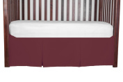 Double Pleat Tailored Crib SkirtCerise 50cm long