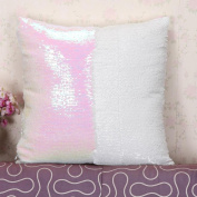 Hatop DIY Two Tone Glitter Sequins Throw Pillows Decorative Cushion Covers
