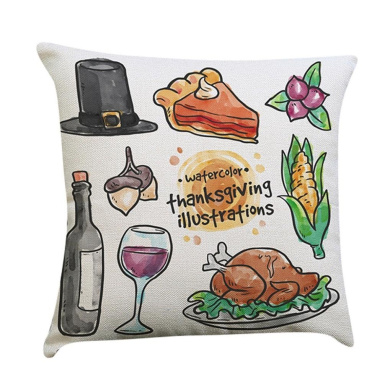 Pillow Case,Dirance(TM) Home Decor Thanksgiving Pillow Cover Thankful sentiment Pillowcases Embroidered Cushioncase (B)