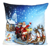 Ikevan® Christmas Santa Claus Pillow Case Sofa Waist Throw Cushion Cover Home Decor(46cm x 46cm )
