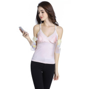 Livingly Light Baby Breastfeeding New Mom Maternity Clothes Nursing & Hands Free Pumping All-In-One Tank Tops, PINK Underwear, L