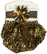 Stephan Baby Ruffled Nappy Cover and Curly Band Gift Set, Cheetah Print, 18-24 Months