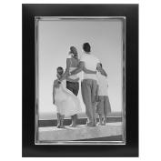 Malden Uptown Black with Silver Fashion Metal Frame, 13cm by 18cm