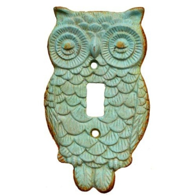 NITE OWL SWITCH PLATE 3.625x.60cm x 16cm H (Turquoise)