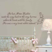 Baby Nursery Wall Decal Peter Rabbit Wall Sticker Vinyl Lettering Wall Art Quote
