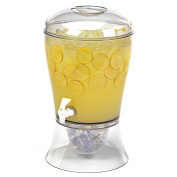 Estilo Beverage Dispenser on Base with Ice Core and Flavour Infuser, Clear, 7.6l