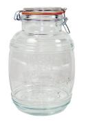 Grant Howard 50132 Medium Cracker Barrel Jar with Air Tight Wire Bail Closure, 2.8l