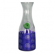 Golden Hill Studio Wine Carafes Hand Painted in the USA by American Artists-Frosted Curl Dot Purple Collection