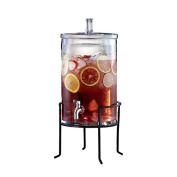 Style Setter Glass Beverage Dispenser with Stand, Clear