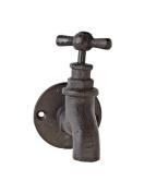 Abbott Collection Garden Tap Single Hook, 10cm , Dark Brown
