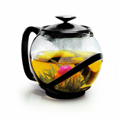 Primula PTA-2340 Tempo Teapot with Infuser and Lid, 1180ml, Black