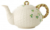Belleek Group 0016 Shamrock Teapot, 35 Fluid Ounce, White