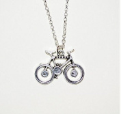 Bicycle Necklace, Bike Charm Necklace, Bicycle Pendant, Cycling Necklace, Cyclist Jewellery, Bike Lover, Simple Necklace, Silver Bike Charm