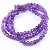 Round Glass Crackle Beads-PURPLE 6mm