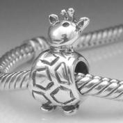 Giraffe Charm 925 Sterling Silver Animal Beads for Pandora Charms Bracelet
