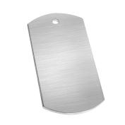GazeKu blank stamping tags, W/Hole, Aluminium .160cm (14 Ga.) -Pack of 50