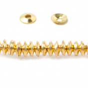 4mm Gold plated Copper plain Bead Cap 8 inch 228 pieces