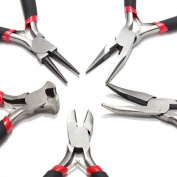 5pcs jewellers PLIERS SET jewellery MAKING BEADING WIRE WRAPPING HOBBY 13cm PLIER US