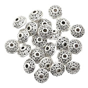 Tinksky 100pcs Alloy Beads DIY Decoration with Antique Silver Necklace Bracelets Earrings for Crafting, Jewellery Making Accessory