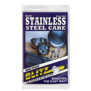 Blitz 21026 Stainless Steel Care Cloth-Single-Ply, Treated, 2 Pack