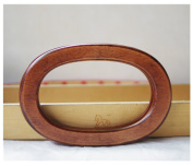 Ownstyle Ellipse Wood Purse Handle Purse Making Supplies 2 Pcs
