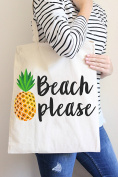 Beach Please Tote Bag in Natural Colour