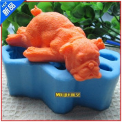 Pinkie Tm NEW Dog annimal silicone soap mould form for soap Clay mould Salt carving mould DIY wholesale