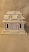 Bank Village House ready to paint, ceramic bisque