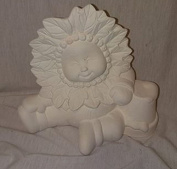 Poinsettia sweet tot 15cm ready to paint ceramic bisque