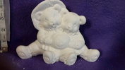 Cuddle Scarecrow bears 18cm ready to paint ceramic bisque