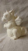 Softy Dragon 18cm ready to paint ceramic bisque